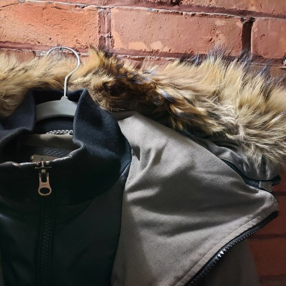 Mackage Fitter Down Coat with Fur Collar